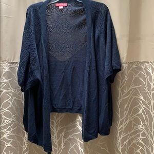 NWOT Woman Within Short-Sleeved Sweater/Cardigan